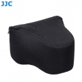 JJC OC-MC0BK Neoprene Camera Case with lens for Canon / Nikon / Fujifilm (Black)